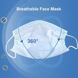 100PCS / 50Pcs Disposable Surgical Mask Dust Breathable Earloop Antiviral Face Mask, Medical Sanitary Surgical Mask Thick 3-Layer Masks