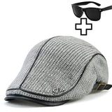 Men's retro hat casual beret cotton newsboy hat summer golf sports hat with sunglasses hat business clothing accessories