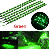 2/6/12 Pcs Multicolor Waterproof 12''/15 DC 12V Motor LED Strip Underbody Light for Car Motorcycle