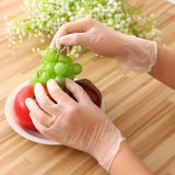Disposable Gloves, Clear Vinyl Gloves Latex Free Powder-Free Protective Glove PVC Cleaning Health Gloves for Kitchen Cooking Cleaning Safety Food Handling, 100PCS/Box
