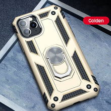 Load image into Gallery viewer, Luxury Armor Shockproof Case For iPhone 11 Pro XS Max XR X 7 8 6 6s Plus Full Cover Car Magnetic Ring Bumper Cases Shell Coque
