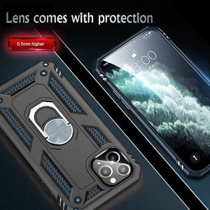 Luxury Armor Shockproof Case For iPhone 11 Pro XS Max XR X 7 8 6 6s Plus Full Cover Car Magnetic Ring Bumper Cases Shell Coque