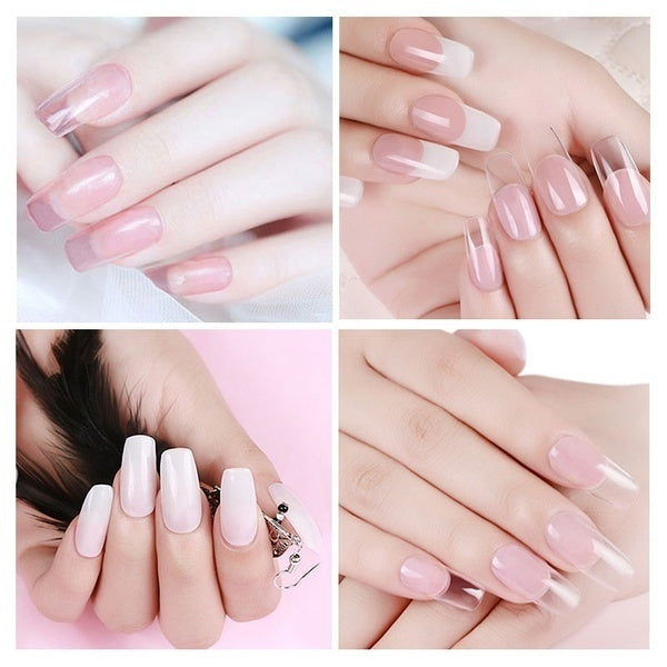 Polygel Nail Acrylic poly gel Pink White Clear Crystal UV LED Builder Gel Tips Enhancement Slip Solution Quick Extension Gel