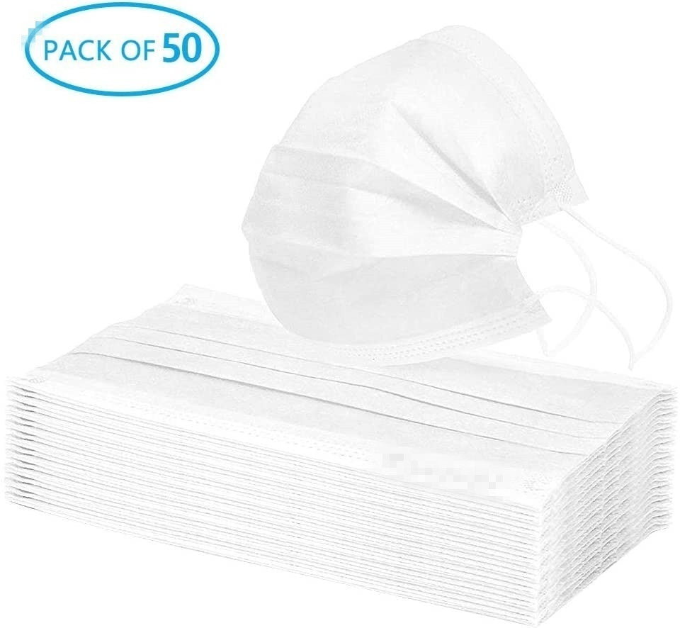 100Pcs/ 50Pcs Disposable Surgical Mask Dust Breathable Earloop Antipm2.5 Face Mask, Medical Sanitary Surgical Mask Thick 3-Layer Masks