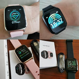 2020 New Smart Watch Women IP68 Waterproof Heart Rate Monitoring Stainless Steel Smart Watch Fitness Bracelet Smartwatch for IOS Android