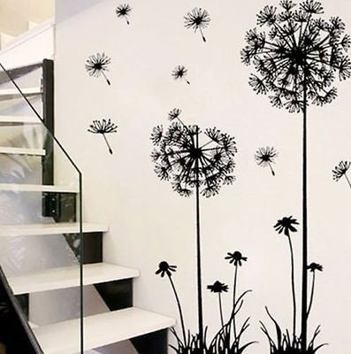 NEW Removable Art Vinyl Quote DIY Dandelion Wall Sticker Decal Mural Home Room Decor