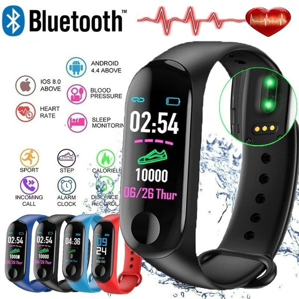 Waterproof Smart Bracelet Heart Rate Blood Pressure Monitor Sport Pedometer Sedentary Reminder Fitness Tracker Smart Wristband For Ios Android Phone