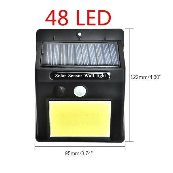 3 Modes 48LED 180LED Solar Light Wall Mount Solar Light Outdoor Safety Lighting Night Light Waterproof IP65 Motion Sensor Detector Garden Back Door Step Stair Fence
