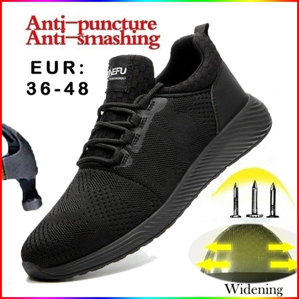 2020 New European Standard Steel Head Kraft Safety Shoes Lightweight Breathable Anti-smashing Anti-piercing Insulation Work Shoes