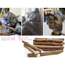 Load image into Gallery viewer, 15/20/30/40/50pcs Natural Matatabi Pet Snack Cat Chew Stick Toy Catnip Molar Food Cat mint