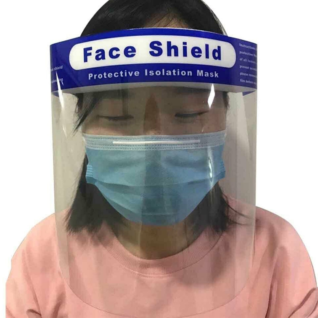 10/20Pcs Full Face   Anti-droplets Anti-fog Dust-proof Face Shield Protective Cover Transparent Face Eyes Protector Safety Accessories