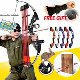Professional Metal Hunting Bow Powerful Straight/Archery  bow for Outdoor Hunting Shooting, Competition, Practice Arrow Accessories