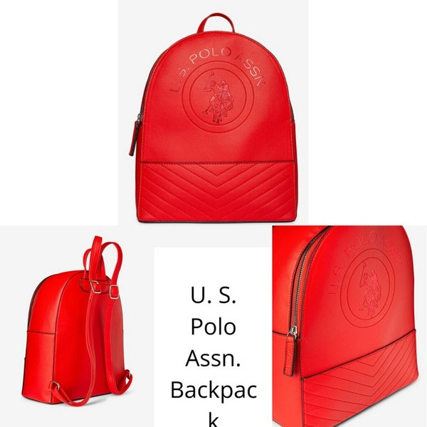 Women's U.S. Polo Assn. Embossed Back Pack