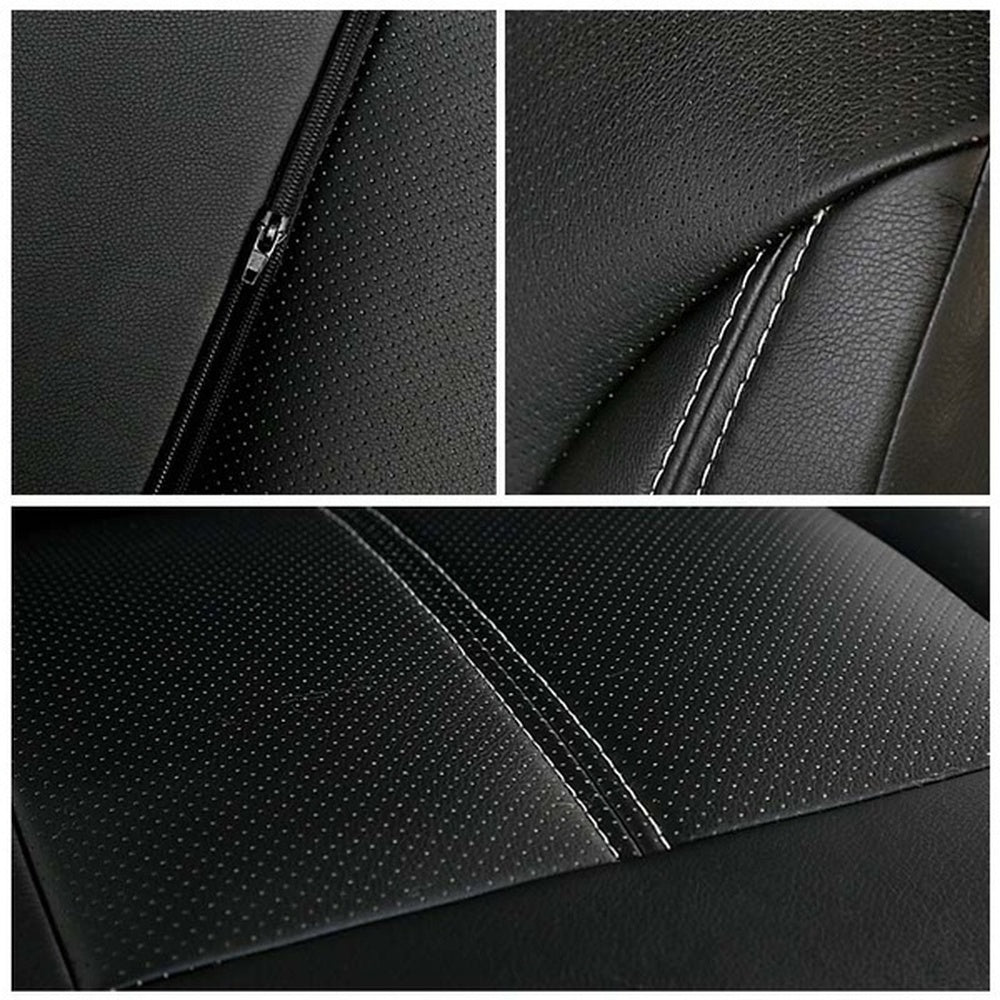 4PCS PU Leather Auto Universal Car Seat Covers Protector Accessories/ Car Front Seat Covers+Head Pillowcase+rear Bench&rear Backrest  Seat Cover(4 Color)