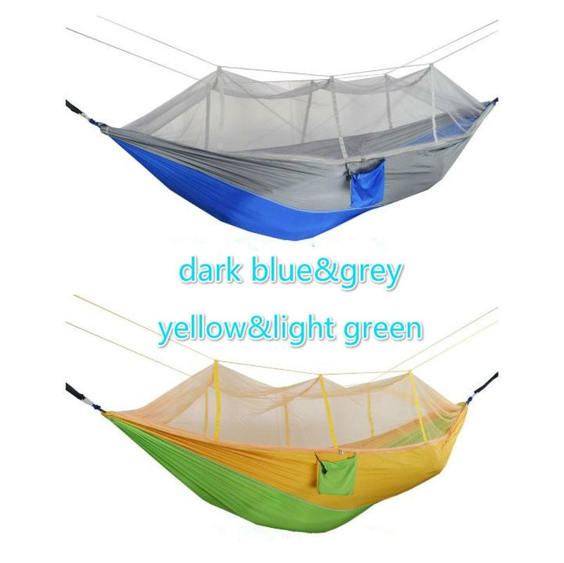 Outdoor Survival 300KG Travel Camping Hanging Hammock Hanging Bed Mosquito Net Set Home Patio