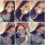 17 Types New Arrival 3D Animals Printed Masks Cats Puppy Face Masks Men and Women Mouth Masks Cute Cotton Masks Soft and Breathable Face Protector Riding Warm Mouth Cover