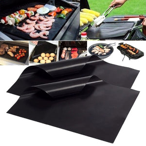 33x40cm Reusable Non-stick BBQ Grill Mat 0.08mm Thick PTFE Barbecue Baking Liners Teflon Cook Pad Microwave Oven Tool BBW