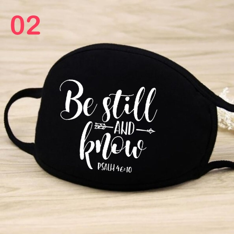 Face Cotton Mask with Earloop for Personal Health Pollution Breathable and Comfortable Mask Anti-Dust Cotton Masks Jesus Printed Cotton Masks