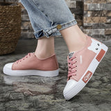 Women Fashion Casual Sneakers Print Cat Canvas Flats Shoes