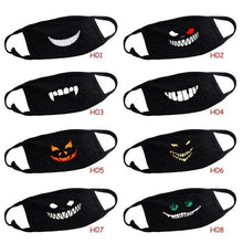 Load image into Gallery viewer, 1psc Cute Black Reusable Dust-Proof Cotton Mouth Mask Anti Dust Face Mask Outdoor Printed Half Face Masks for Men Women