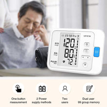 Load image into Gallery viewer, NEW SET Portable Digital Upper Arm Blood Pressure Monitor LCD & Blood Glucose Meter with 100pcs Test Strips and Lancets Glucometer Kit Diabetic Blood Sugar Meter Diabetes Tester