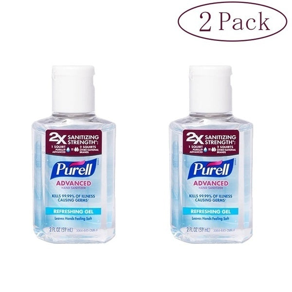 purell Travel Portable Hand Sanitizer Gel Instant Advanced natural Hand Sanitizer Kills Germs 60ml