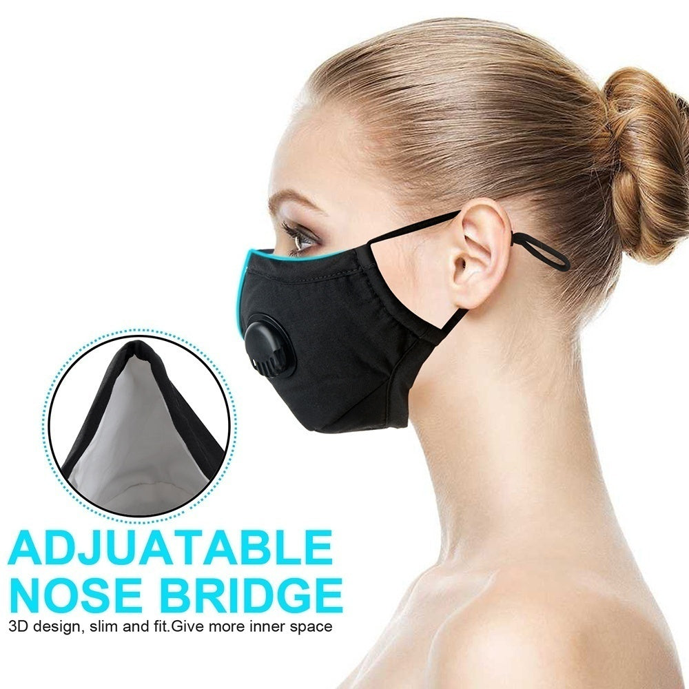 2pcs/pack Air Pollution Dust Mask Protection Allergies Adjustable Masks with 2/4/6/8/10/12/14/16/18/20 Filters