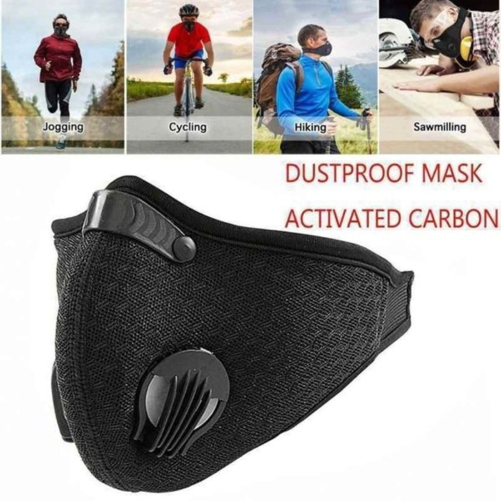Pack of 4 PM 2.5 Protective Mask Professional Dust Mesh Mask Activated Carbon Filter Mask  Cloth 5 layers to Protect