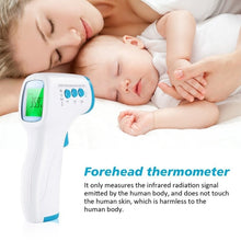 Load image into Gallery viewer, Digital Non-contact Infrared Forehead Body Thermometer with Three-color Backlight AP