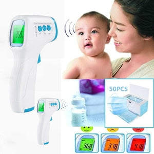 Digital Non-contact Infrared Forehead Body Thermometer with Three-color Backlight AP