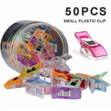 Load image into Gallery viewer, 50Pcs Plastic Wonder Clips Fabric Quilting Craft Patchwork Sewing Knitting Clip DIY