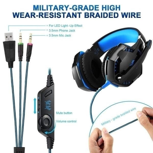 New upgrade Surround Stereo HiFi Pro Gaming Headset with HD Mic For PS4 XBOX PC Games Computers Game Virtual Sound Gamer
