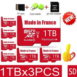 2020 New High Speed 512GB\1TB USB Drive Micro SD Micro SDHC Micro SD SDHC Card 10 UHS-1 TF Memory Card + Card Reader+Adapter