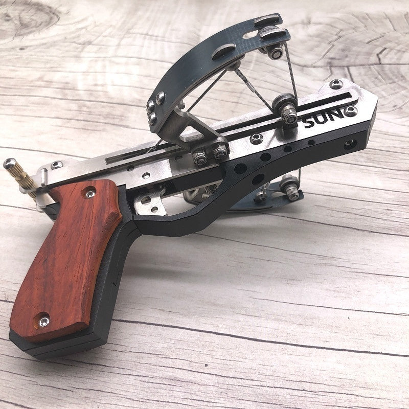 High Quality Recurve Mini Crossbow LIE Stainless Steel and Aluminum Outdoor Shooting Toy Including Installation Tools Fire 4MM Arrow and 4MM Steel Ball
