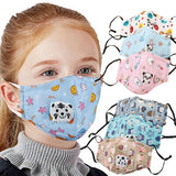 Kids Cotton PM2.5 Anti-smog Anti-Dust, Smoke, Gas and Allergies Adjustable and Reusable N95 Masks Activated Carbon Mask Protection