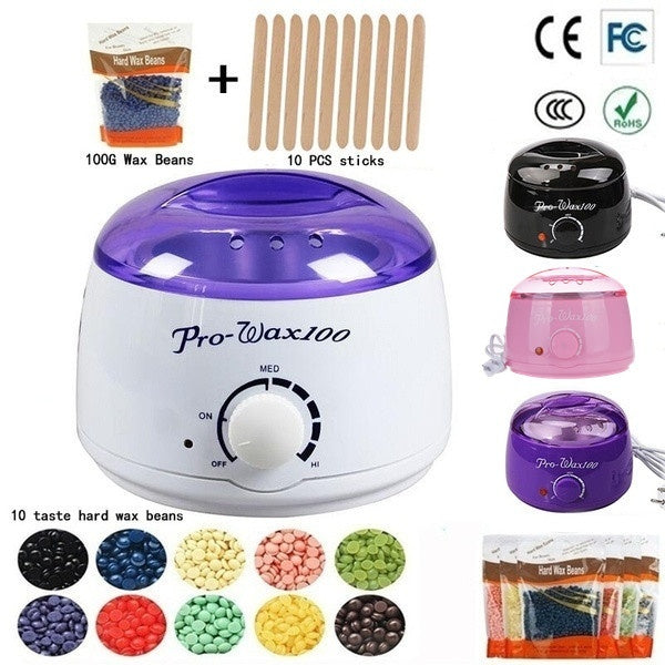 New Fashion Hair Removal Electric Wax Warmer Machine Heater With Wax Beans And Stickers Bikini Hair Removal Sets Waxing Kit