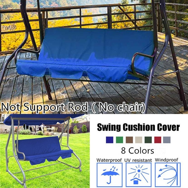 150CM 3 Seater Garden Swing Cushion 8 Colors Waterproof Dustproof Chair Replacement Canopy Spare Fabric Cover Dust Covers