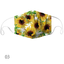 Load image into Gallery viewer, 9 Styles Chrysanthemum printing Dustproof Anti-fog Washable Breathable Mask High Quality Face Mask Outdoor Anti-dust Protective Mouth Cover Reusable Masks