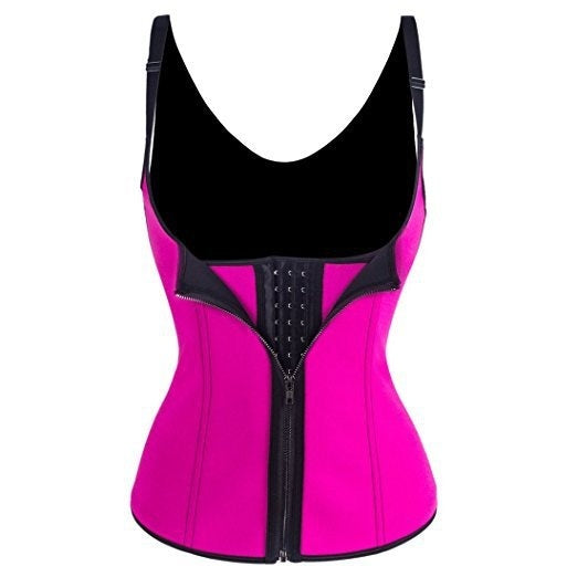 Bodysuit Women Slimming Zipper Waist Trainer Cinta Modeladora Hot Body Shaper Tummy Waist Tank Corrective Shapewear Tops