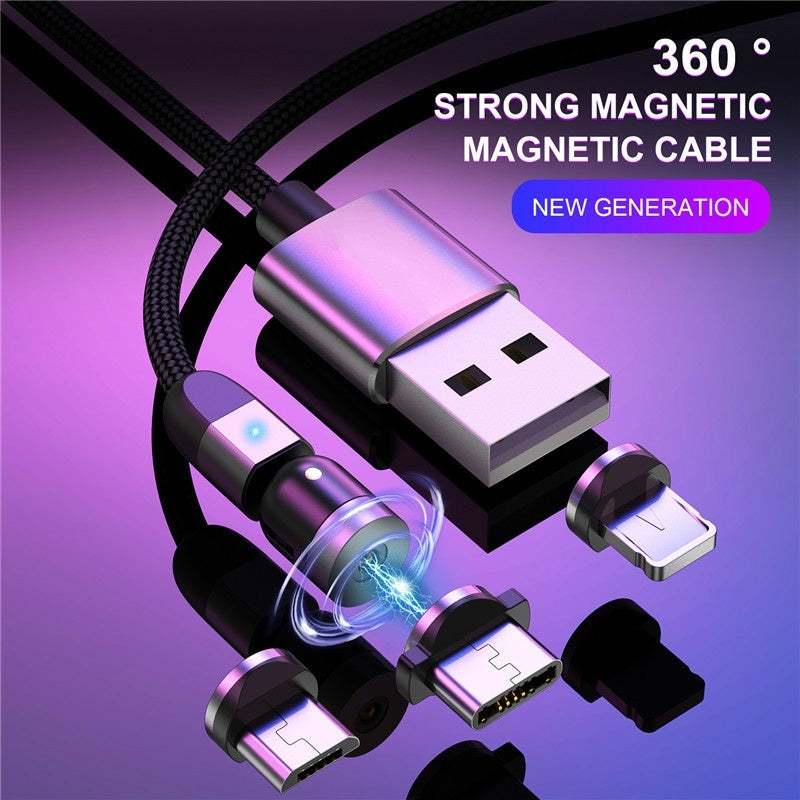 New 540 Degree Rotate Magnetic Cable Micro USB Type C Cable Magnetic Charging Cable for IPhone 11 Pro Max Data Line