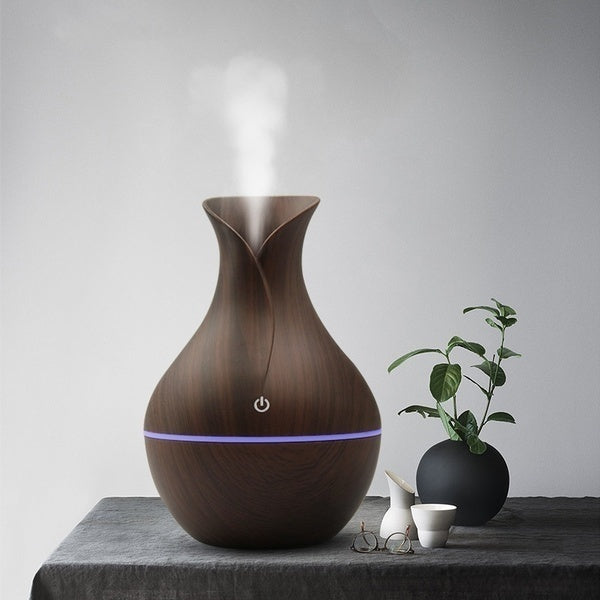 130ml 7 Changing Color Cool Mist Ultrasonic Purifier Aromatherapy Humidifier USB Essential Oil Diffuser Home Decor