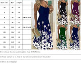 Summer Women's Bodycon Dress Slim Long Dress Print Maxi Dress Elegant Party Sling Dress