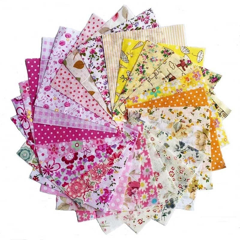100Pcs /60Pcs /50Pcs /30Pcs Diy Floral Printed Patchwork Cotton Fabric Cloth Crafts Bundle Sewing Quilt Fabric 10X10Cm