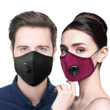 Washable PM2.5 Protective Face Mask Cotton Anti-dust Face Mask Winter Filter Respirator with Breath Valve
