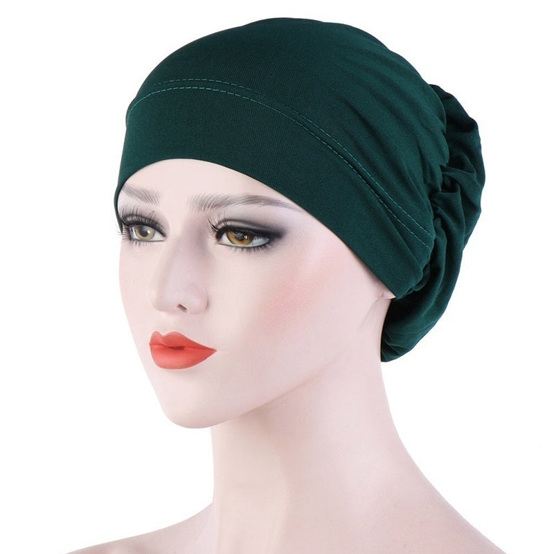 16 Colors New Style Muslim Turban Scarf Cap Muslim Hijab Bonnet Caps Arab Soft Baggy Beanie Hat