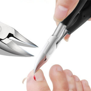 Old man with ingrown toenail Pedicure Tools Nail Clippers Toe Nail Cutter