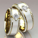 Luxury Men Women Natural Gemstones Diamond Ring 18k Gold Filled White Sapphire Engagement Wedding Band Rings Promise Rings Fashion Jewelry Anniversary Accessories