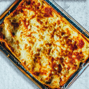 Beef Lasagne with Garlic & Rosemary Focaccia