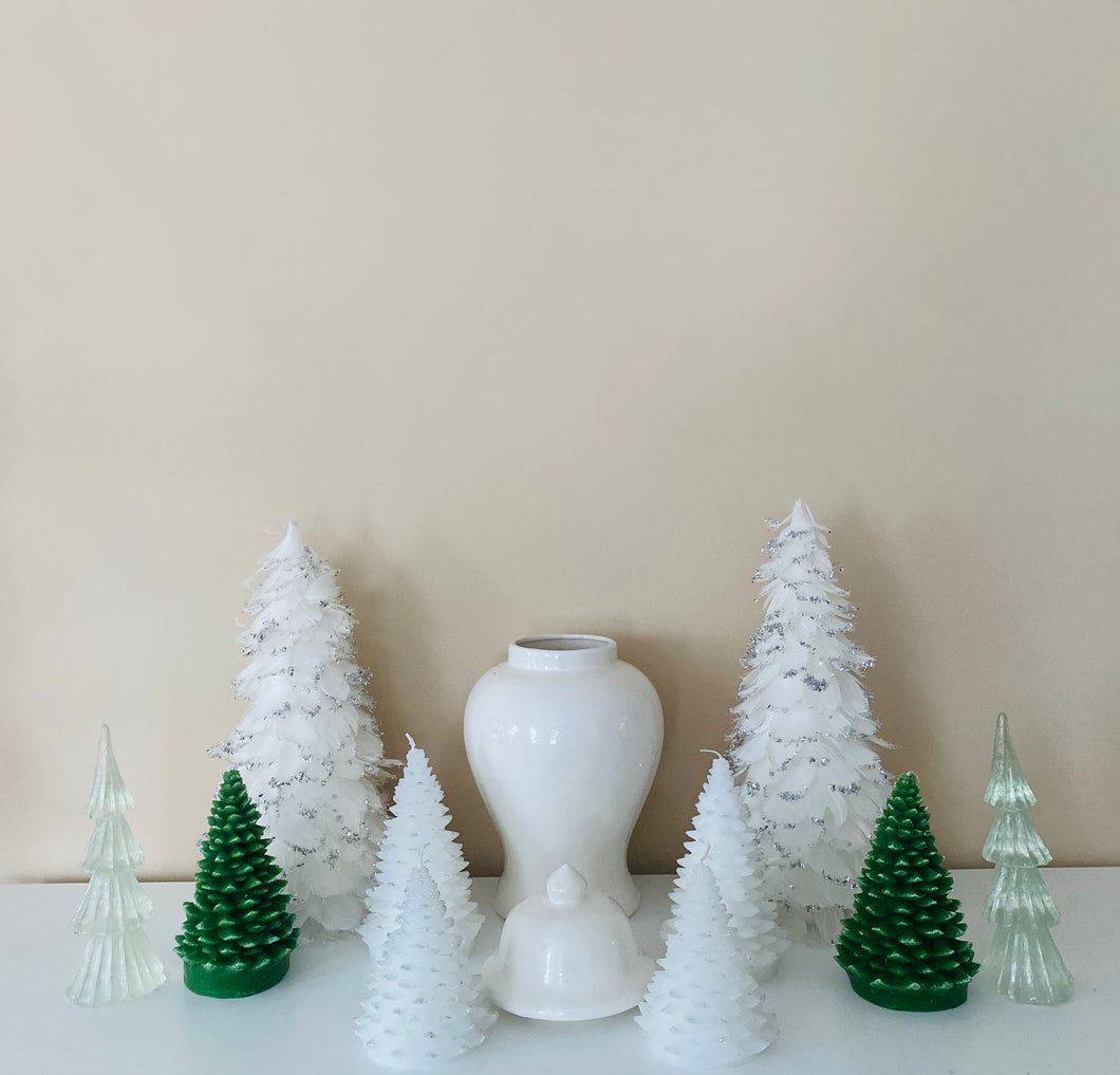 Christmas Tree Candles (White)