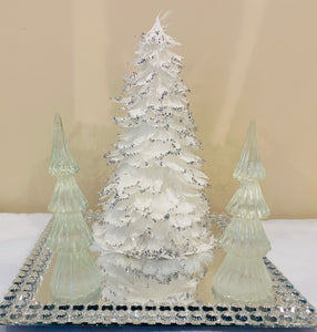 Clear Christmas tree with Bluish Tint